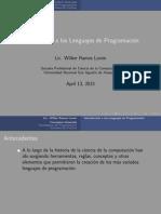 Introduccion a La Programacion - 2015