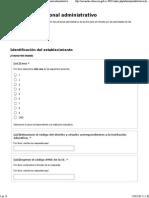 Sistema de Encuestas MINEDUC - Formulario Personal Administrativo