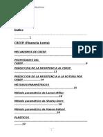 Creep, Fluencia Lenta Essay