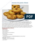 Rosquillas Alemanas de Pasta Choux