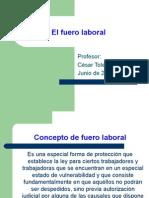 El Fuero Laboral  en Chile