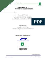Compresión de Concreto Informe