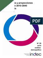 INDEC Proyecciones y estimaciones Nacionales 2010 2040