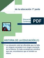 Historia de la educación 1º parte