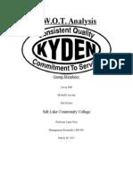 kyden swot analysis paper
