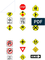 Traffic Signs Picture Cards