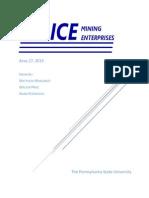noice mining enterprises prefeasibility study