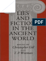 ! Gill y Wiseman - Lies and Fiction in the Ancient World-University of Exeter Press (1993)