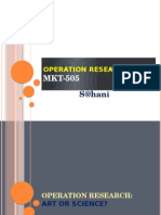 Introduction of Operation Research