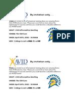 avid invitation - google docs