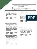 EXAMEN MENSUAL 5°-FISICA-FILA A Y B ABRIL
