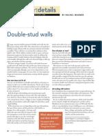 Double Stud Walls