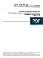 3GPP TS 25.401 _ UTRAN Overall Description