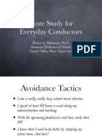 Score Study for Everyday Conductors