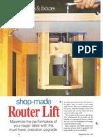 Router Lift- Control de altura del router o fresadora
