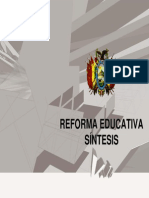 Sintesis de La Reforma Educativa