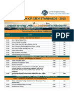 BSB Edge Offer 15% Discount on ANNUAL BOOK OF ASTM STANDARDS - 2015