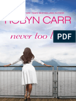 Never Too Late by Robyn Carr - Chapter Sampler