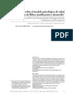 Variaciones Sobre el Modelo Psicológico de Salud Biológica de Ribes Justificación y Desarrollo