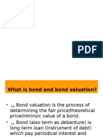 Bonds Valuation and Ytm