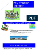 Maine Citizen Centric Powerpoint Presentation