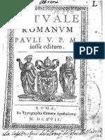 Rituale Romanum 1614