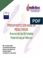 PbR y Las Entidades Federativas en México