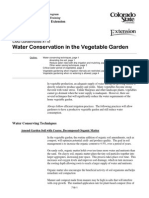 Water Conservation in the Vegetable Garden