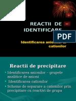 Reactii de Identificare