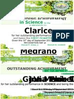 Certificate Science q1