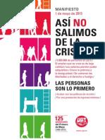 Manifiesto Primero Mayo 2015 UGT 1 Mayo UGT