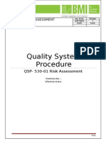 QSP- 530-01 Risk Assessment