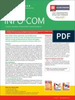 Fiche Info Licence Infocom 2015 IDF