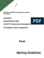 2012 June Isa Chem6tp Mark Scheme