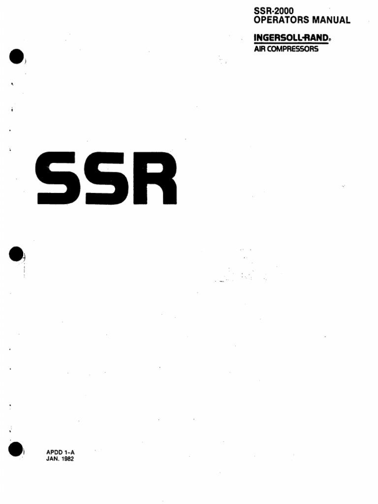 SSR Ingersoll Rand manual