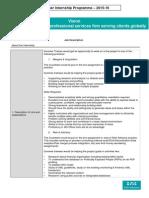 Summer Trainee Job Description 2014 15