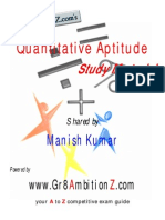 Quantitative Aptitude Study Material