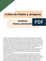 Critón de Platón y Antígona