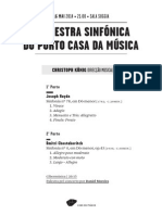 20140516 | Programa de Sala Orquestra Sinfónica do Porto Casa da Música | MÚSICA EM DÓ MENOR