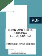 Levantamiento de Columna Estratigráfica