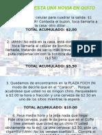 Lo Que Cuesta Una Novia en Quito