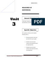 BA201 Engineering Mathematic UNIT3 - Measures of Dispersion