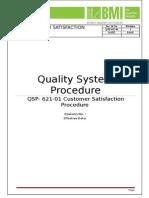QSP 621 01Customer Satisfaction Procedure