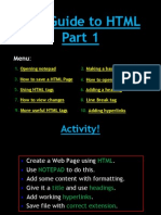 Guide to HTML Part1