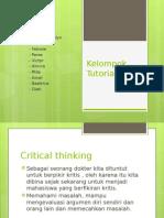 Kelompok Tutorial 9 Blok 1 Critical Thinking
