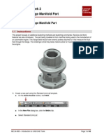 JJ306 Autodesk Inventor Week 2 - Project 2 - Flange Manifold Part