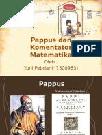 Pappus Dan Komentator Matematika
