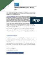 TroTroubleshoot cisco 3750 x stack power featureubleshoot Cisco 3750X Stack Power Feature