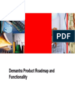 DemantDemantra Product Road Map - Functionalityra Product Road Map - Functionality