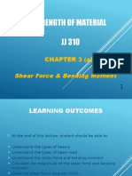 JJ310 STRENGTH OF MATERIAL Chapter 3(a) Shear Force & Bending Moment A
